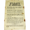 Extremely Rare 1944 World War Two Wartime Memorabilia - European Front D-Day Invasion  Supreme Allied Command Propaganda Leaflet to French Resistance Transportation Workers