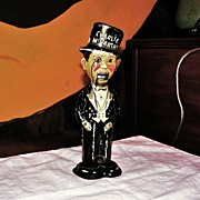 SALE Vintage Charlie McCarthy Tin Wind-up Mechanical Walker Toy - Ventriloquist Edgar Bergen R