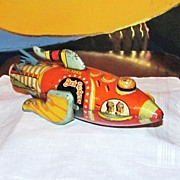 SALE Authentic 1927 Buck Rogers Spaceship Tin Wind-UP Toy - Early Science Fiction Character -
