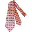 Vintage 40s/50s Arrow Pink & Black Abstract Print Wide Tie