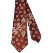 Vintage 50s Paisley Motifs Cinnamon Brown Satin Wide Tie