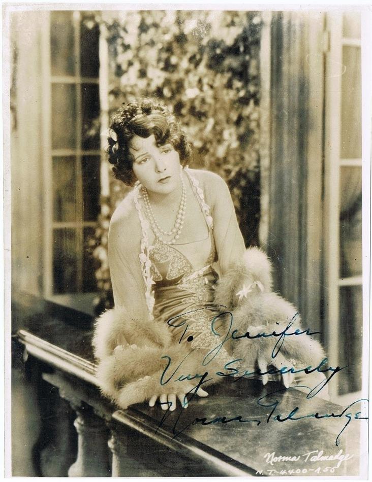 Norma Talmadge Autograph Autograph