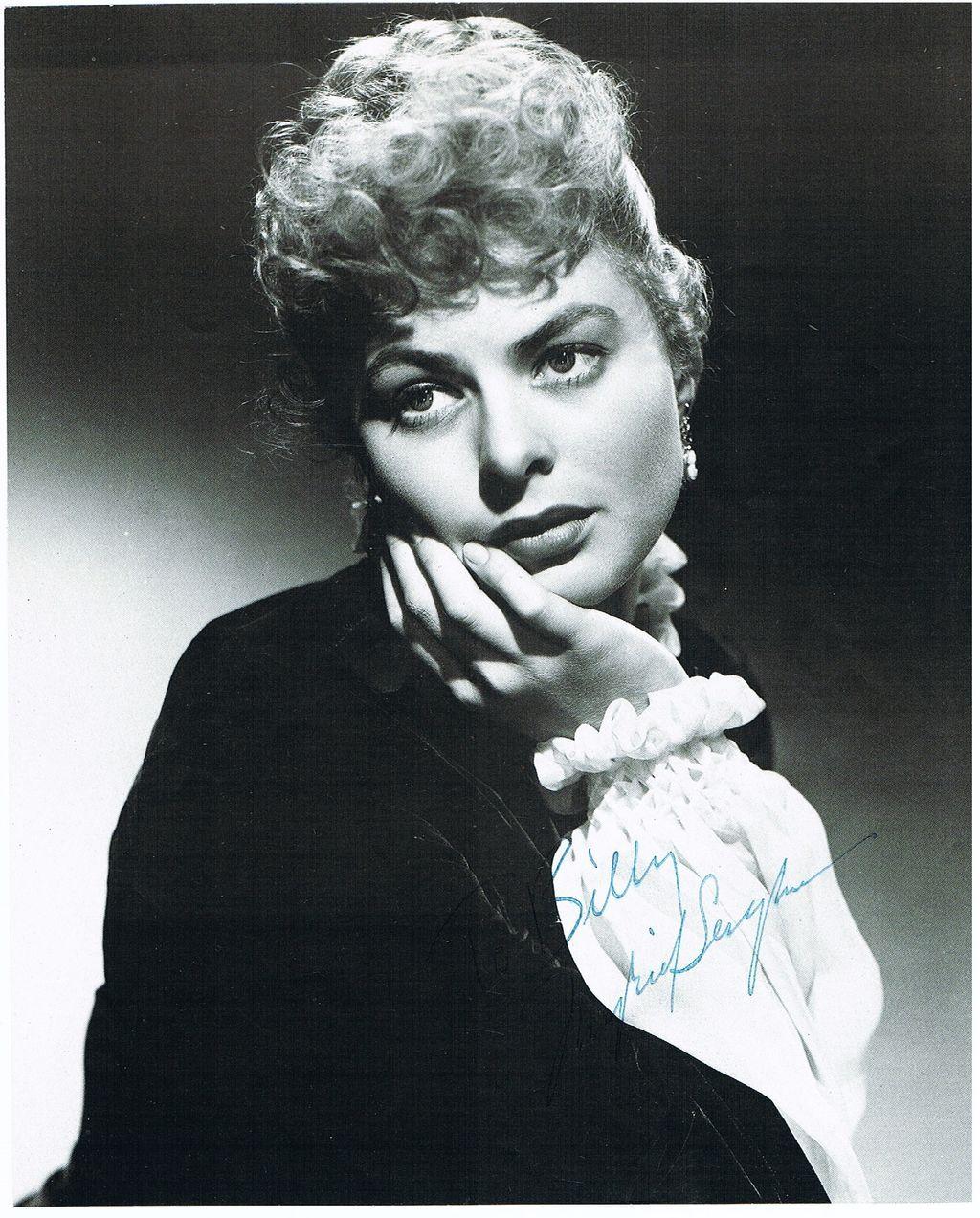 Ingrid Bergmann Autograph