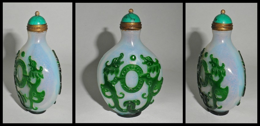 Chinese Overlay Snuff Bottle