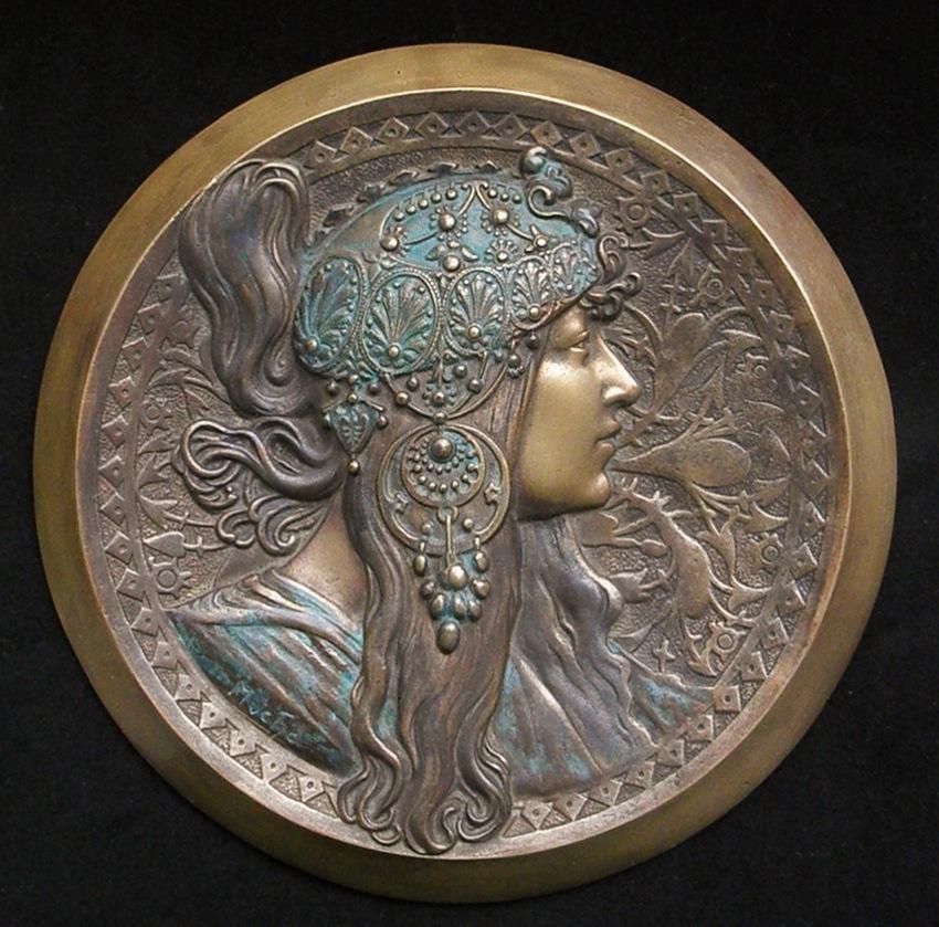 Alphonese Mucha bronzes