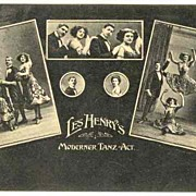 Les Henry�s Modern Dance Act: Advertising Postcard from ca. 1910