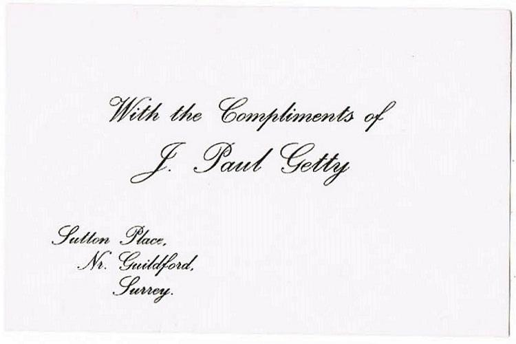 Paul Getty Autograph