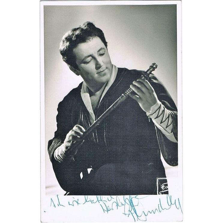 Fritz Wunderlich autograph