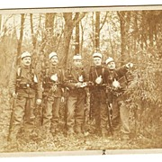 1889: Cabinet Photo. 5 Soldiers from Austria