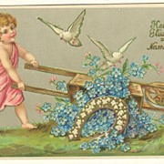 Saint�s Day Postcard. Embossed, 1905.