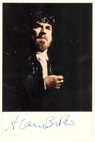 Alan Bates Autograph: Signed Photo. CoA