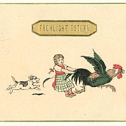 Happy Easter: Funny vintage Postcard