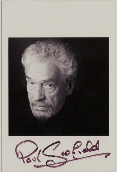 Paul Scofield Autograph. Hand signed Photo. CoA