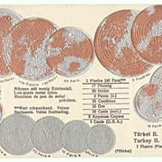 Turkey. Embossed Postcard with Coins.