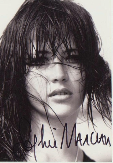 Sophie Marceau Autograph. Hand signed Photo. CoA