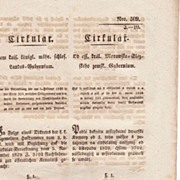 1846: Imperial Austria. Antique Circular related to Bond.