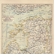 Russia: 2 Antique Maps of Russian Provinces. 1900