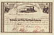 1857: Baltimore and Ohio RR Co Stock Certificate Israel Cohen signed.