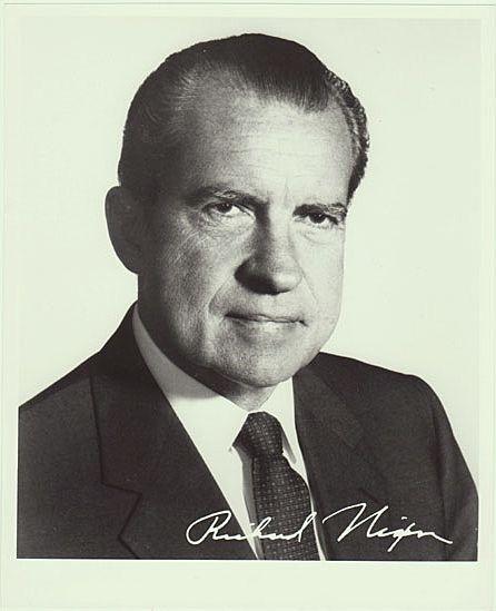 Nixon: President Richard Nixon: 8 X 10 Photo From 1970s From