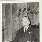Paul Getty Autograph: Signed Photo, Envelope, Compliments. CoA