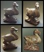 China: Antique Wood Carving of a Duck. Hong Mu.