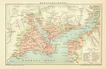 Constantinople: Old Map from 1899