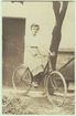 Lady in Bicycle: Vintage Photo