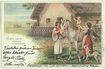 Gypsy Family in Style of Holy Family. Vintage Postcard 1900