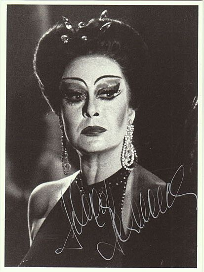 Helga Dernesch Autograph. Hand signed Photo. CoA