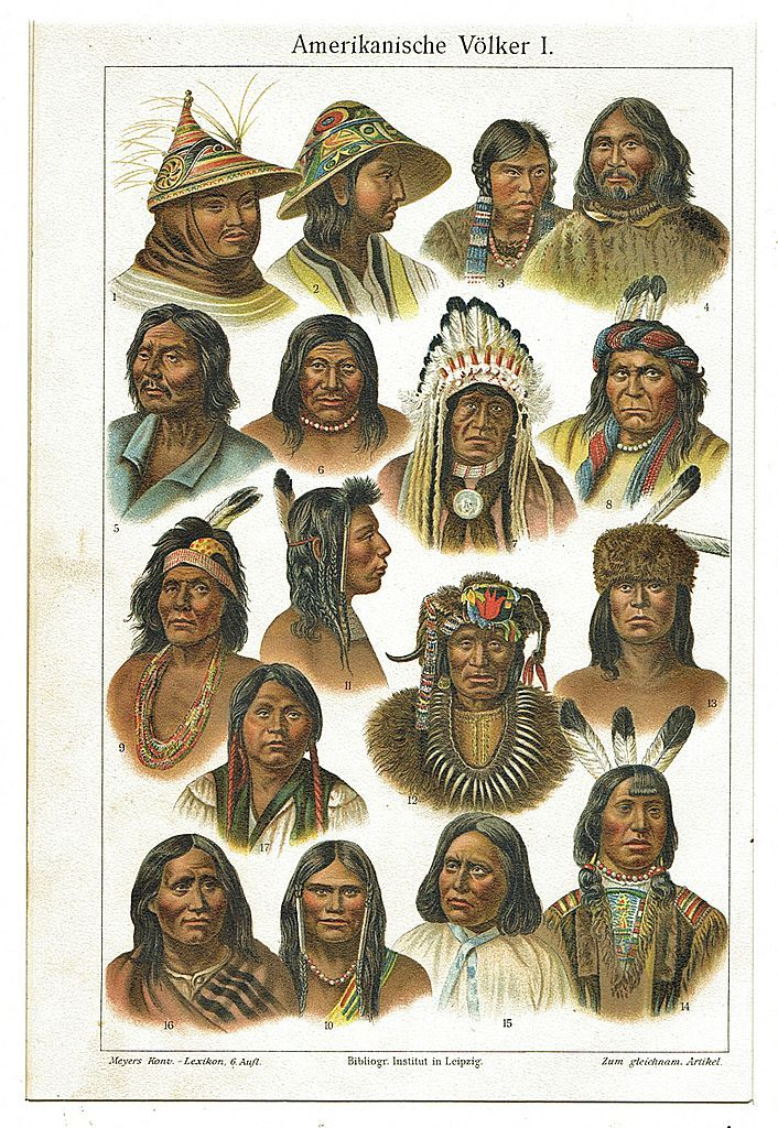 Indian peoples lithograph