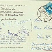 Austrian Mountaineer Fritz Moravec Lot: Autograph and Special Mail