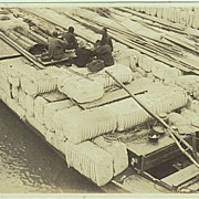 Old Chinese Photo: Coolies Transporting Goods. 1920s