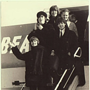 Scarce Beatles Photo from Austria. Landing at Salzburg in 1965