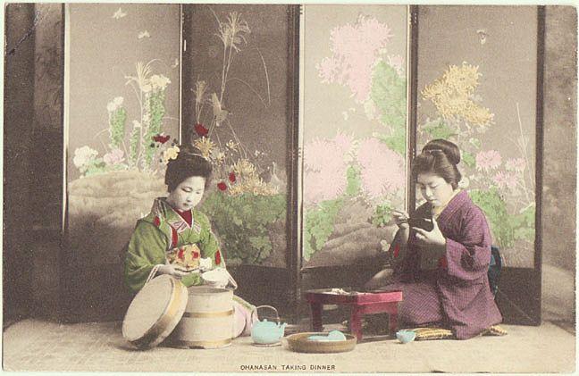 Традиционный японский домашний обед.