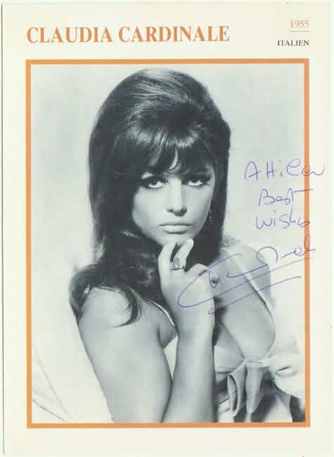 Claudia Cardinale Authentic Autograph