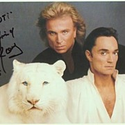 Siegfried and Roy Autograph. Hand signed Photo-Print. 8 x 5. CoA