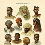 African Peoples Two old Lithographs from 1902