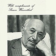 Simon Wiesenthal Autograph: Hand-signed Photo Print.