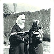Muslim Ladies on vintage Postcard from Bosnia