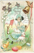 easter postcard art nouveau