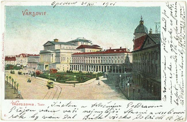 Old Poland Warsaw Postcard Russian Stamp 1901