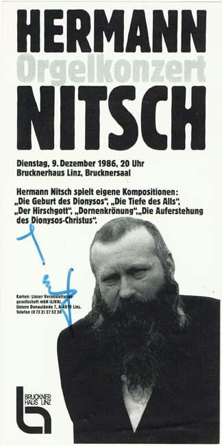 Hermann Nitsch Autograp