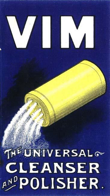 VIM detergent ad