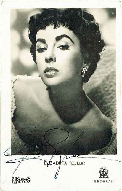 Liz Taylor Autograph