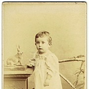 Friedrich Ernst Saxe Altenburg CDV. The Prince as Baby Boy