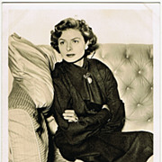 Ingrid Bergmann: Vintage Photo  Ufa, Germany