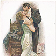 Harrison Fisher Postcard from Finland: The Kiss