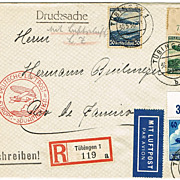 Zeppelin Mail to Rio de Janeiro: LZ 129, 1936, Mixed Franking