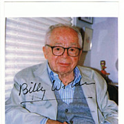 Billy Wilder Autograph. Signed Photo. CoA