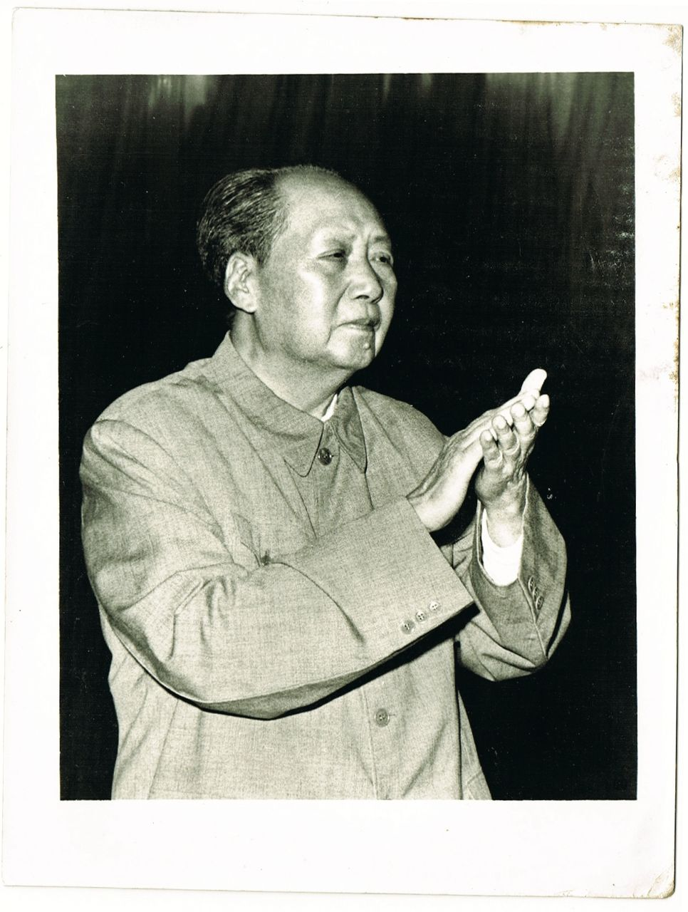 Cultural Revolution China: Authentic Photo Mao clapping Hands